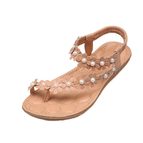 Casual Beach Sandals Women Summer Leather Female