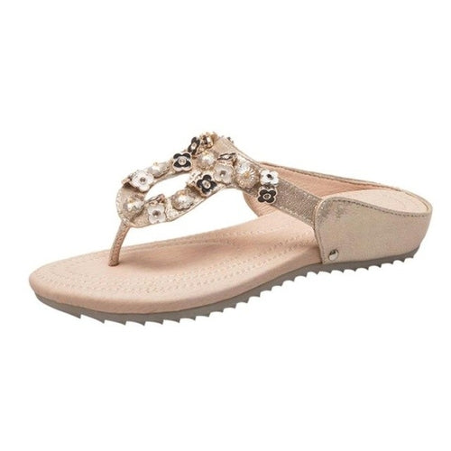 Casual Women's Shoes Sandals Flower Rhinestone