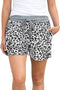 Casual White Leopard Print Drawstring Waist Women Shorts freeshipping - PuaGme