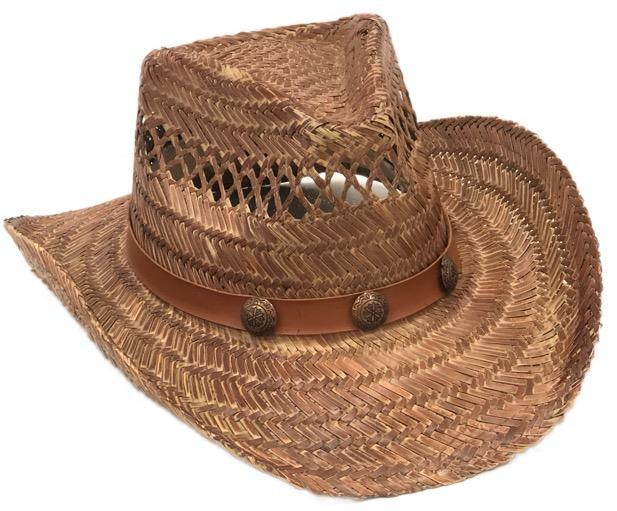 Natural Stain Cowboy Hat