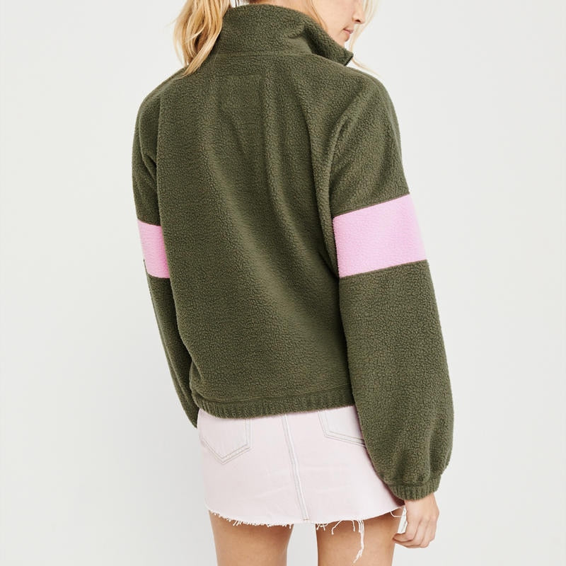 Patchwork Fleece Sweatshirts Autumn