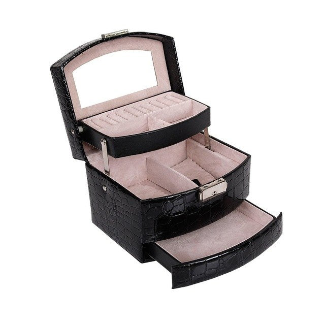 Women Makeup Carrying Case Casket Jewelry freeshipping - PuaGme