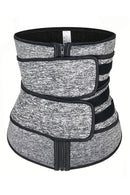 Heather Gray Sauna Sweat Sport Girdles Neoprene Body Shaper freeshipping - PuaGme