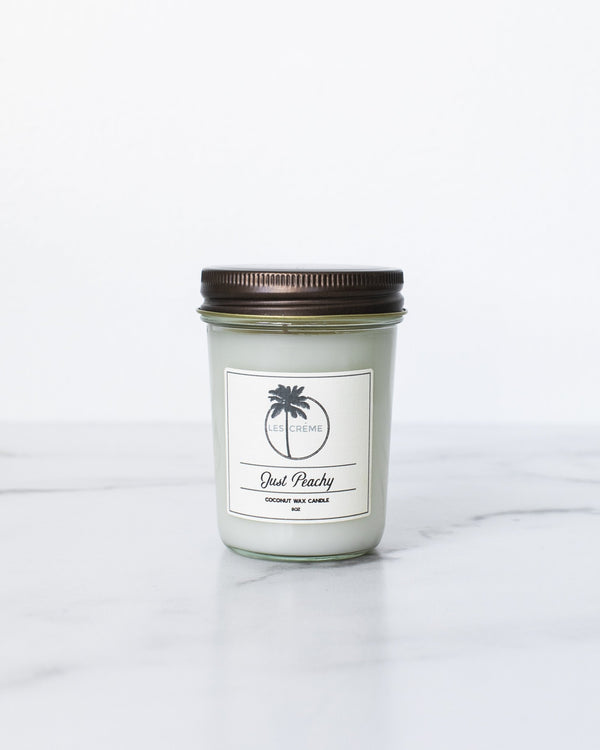 Just Peachy Scent Coconut Wax Candle freeshipping - PuaGme