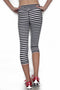 Black and White Stripe - Pocket Capri freeshipping - PuaGme