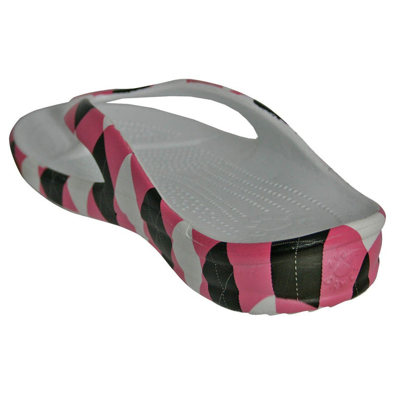 Women's Loudmouth Flip Flops - Pink and Black freeshipping - PuaGme
