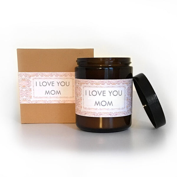 I Love You Mom Eucalyptus Scented Soy Wax Candle freeshipping - PuaGme