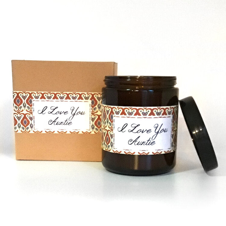 I Love You Auntie Citrus + Sage Scented Soy Wax Candle freeshipping - PuaGme