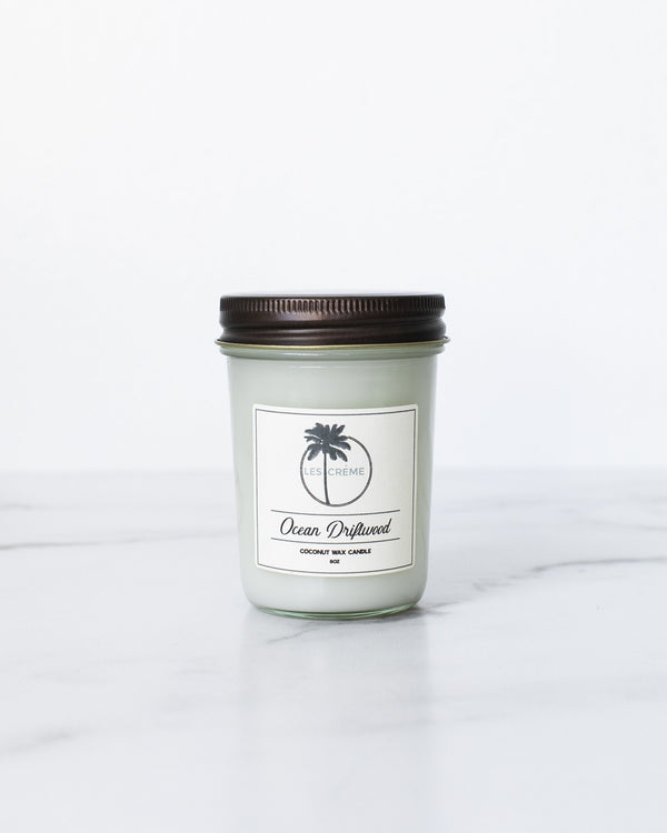 Ocean Driftwood Scent Coconut Wax Candle freeshipping - PuaGme