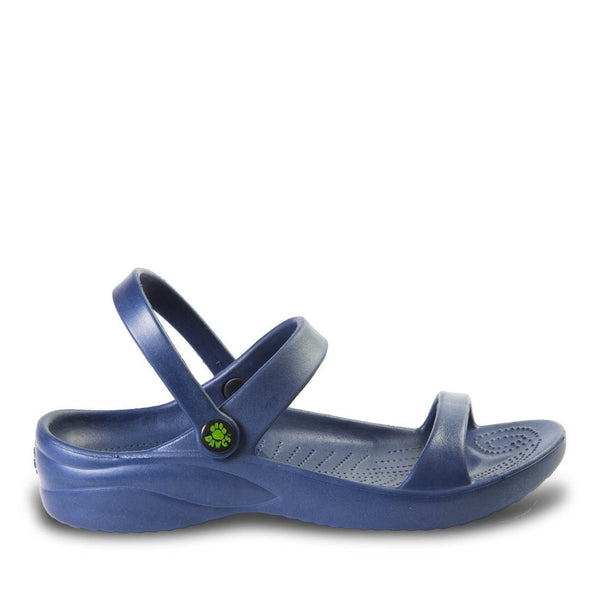 Women's 3-Strap Sandals - Navy freeshipping - PuaGme