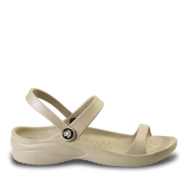 Women's 3-Strap Sandals - Tan freeshipping - PuaGme