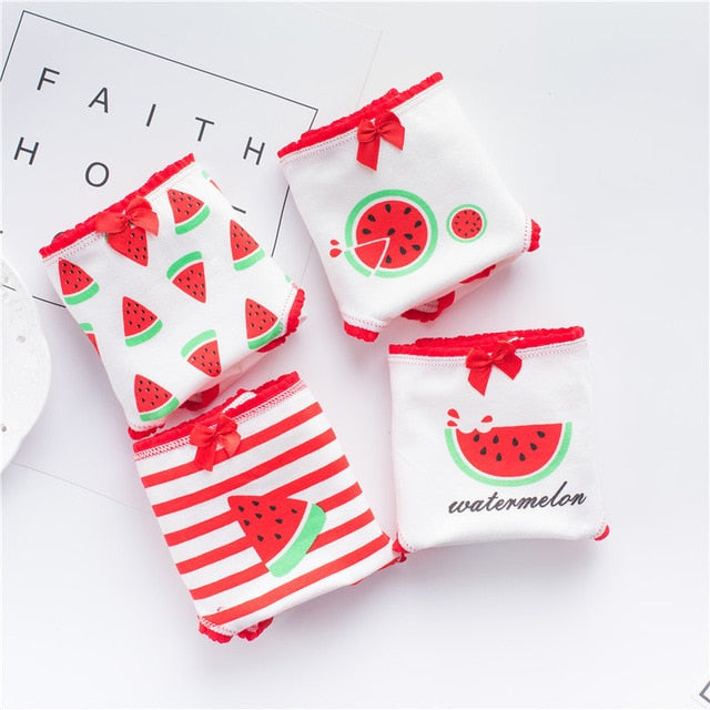 Panties for Women Cotton Briefs Watermelon Print freeshipping - PuaGme