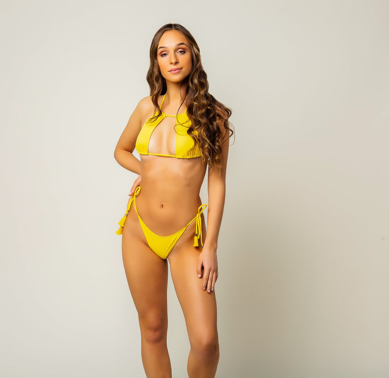Carnaúba Bikini Top - Yellow freeshipping - PuaGme