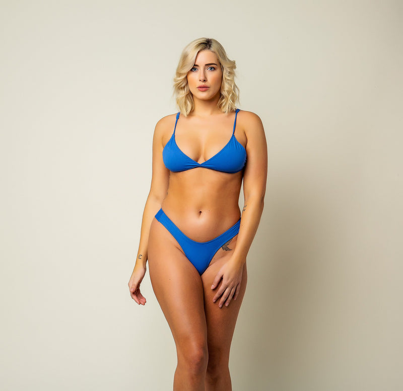 Passiflora Bikini Bottom - Cornflower Blue