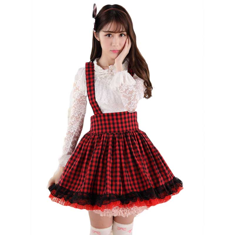 Plaid Lace Lolita Preppy School Uniforms freeshipping - PuaGme