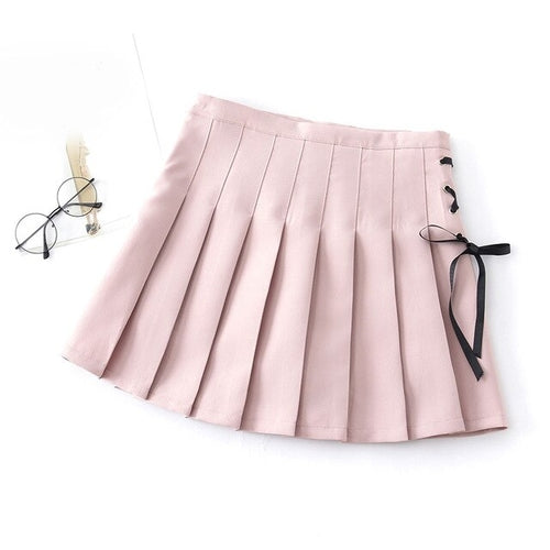 Preppy Harajuku Pleated Skirt Cute Mini freeshipping - PuaGme