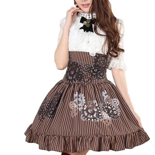 Preppy Lace Ladies Jupe Skirts Lolita