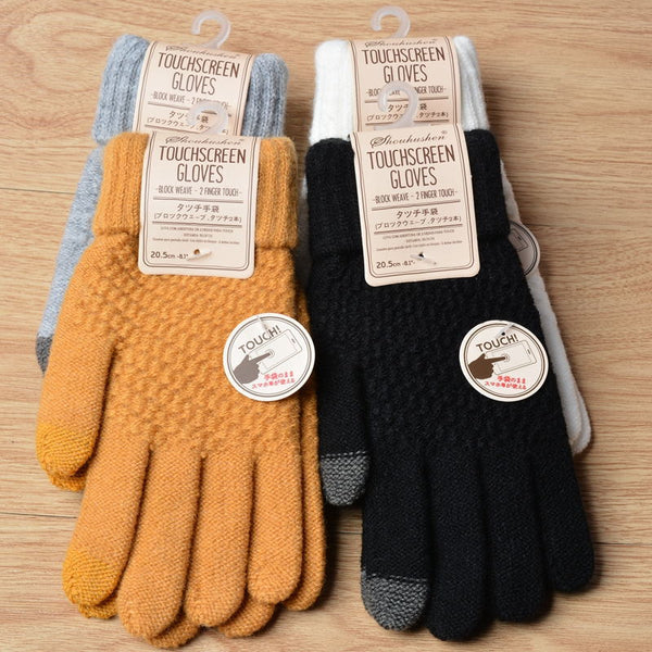 Women's Cashmere Knitted Winter Gloves freeshipping - PuaGme