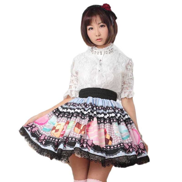 Sweet Mini Lace Lolita Skirt Japanese Preppy Style