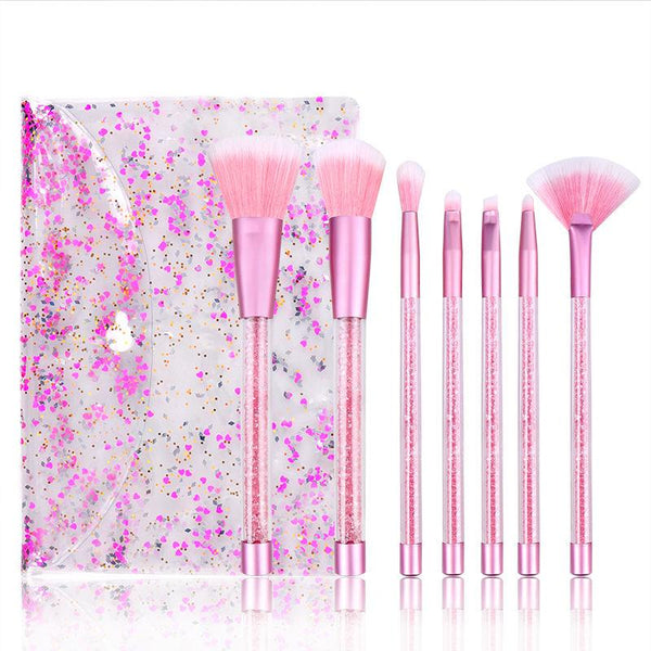 Luxury Sequin Makeup Brushes Set For Foundation freeshipping - PuaGme