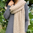 Almond Ultra Plush Alpaca Scarf freeshipping - PuaGme