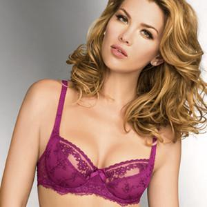 LISE CHARMEL ANTINEA SHEER LACE DEMI CUP BRA freeshipping - PuaGme
