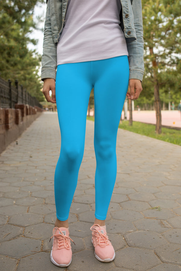 Seamless Baby Blue Leggings freeshipping - PuaGme