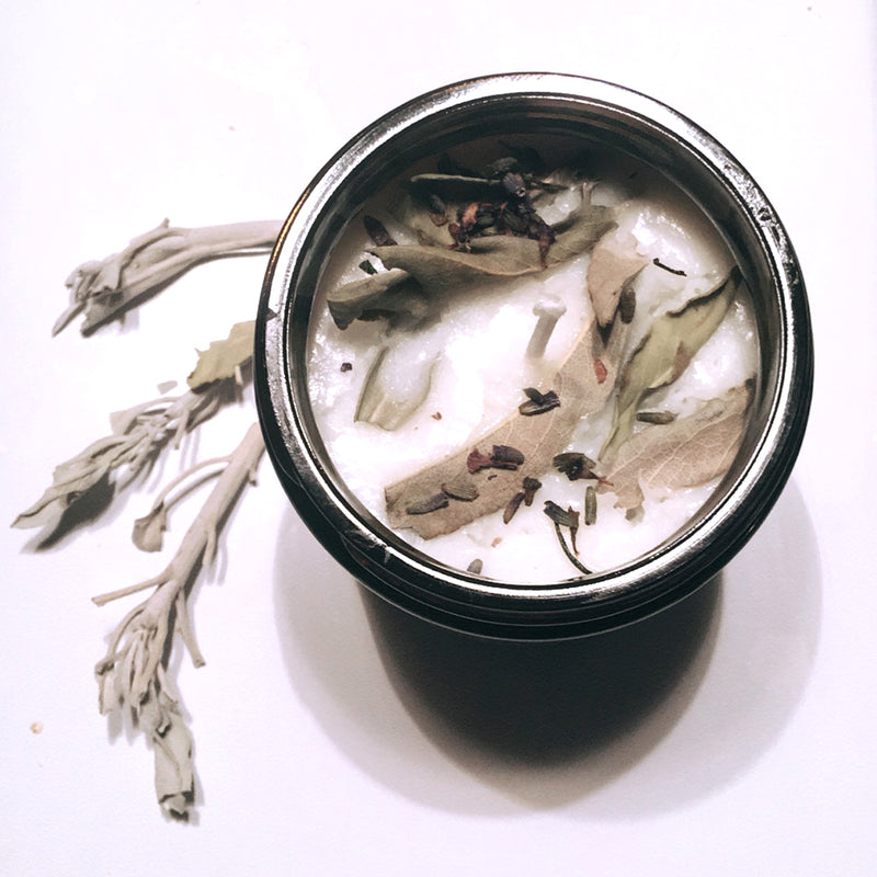 Lavender + White Sage Aromatherapy Scented Soy Wax Candle freeshipping - PuaGme