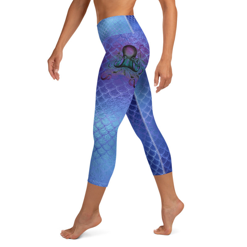 Octopus Mermaid leggings, Capris and Shorts