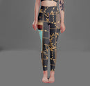 Baroque Chains High Waist Leggings freeshipping - PuaGme