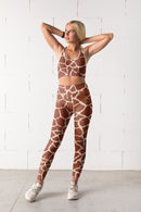 Animal Print Giraffe Fitness Set freeshipping - PuaGme