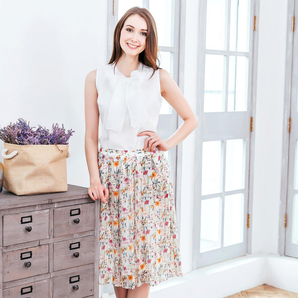 (Woman) Floral Midi Skirt freeshipping - PuaGme