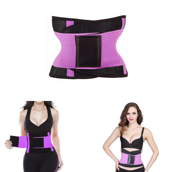 Women Body Shapers Waist Cincher Trimmer Purple freeshipping - PuaGme