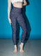 Blue Glitter leggings, Capris and Shorts freeshipping - PuaGme