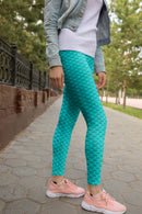 Blue Mermaid Leggings, Capris, Shorts