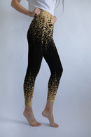 Black Gold glitter leggings, Capris and Shorts freeshipping - PuaGme