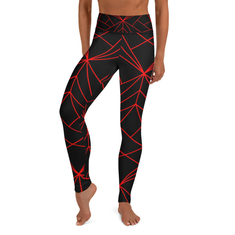 Lavinia Black Geometry leggings, Capris and Shorts freeshipping - PuaGme