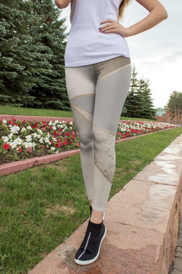 Seamless Silver Geometry Capris freeshipping - PuaGme