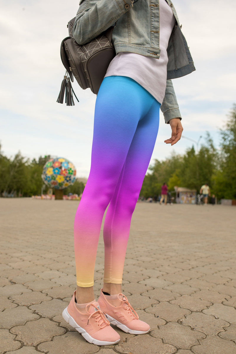 Pastel colorful leggings, Capris and Shorts