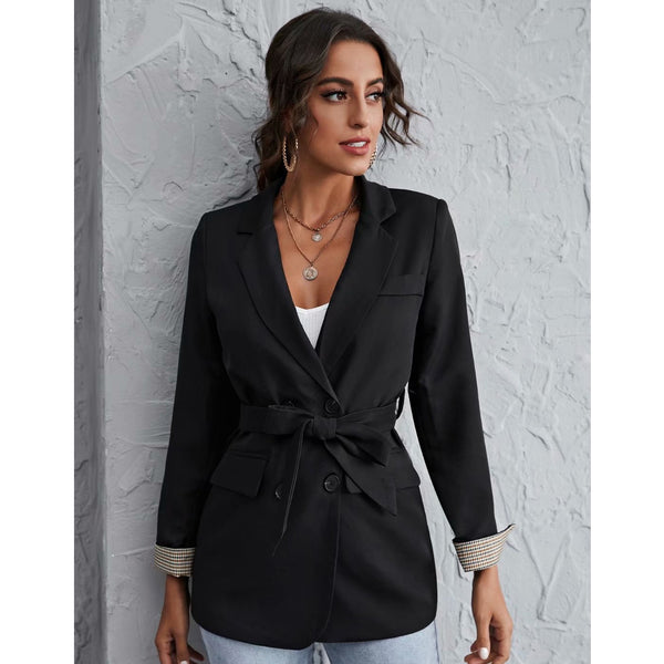 Double-breasted Long Sleeve Blazer Jacket Coat
