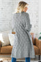 Winter Gray Textured Cable Knit Cardigan
