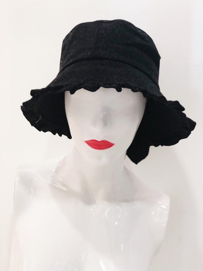 'Macy' Black Bucket Hat