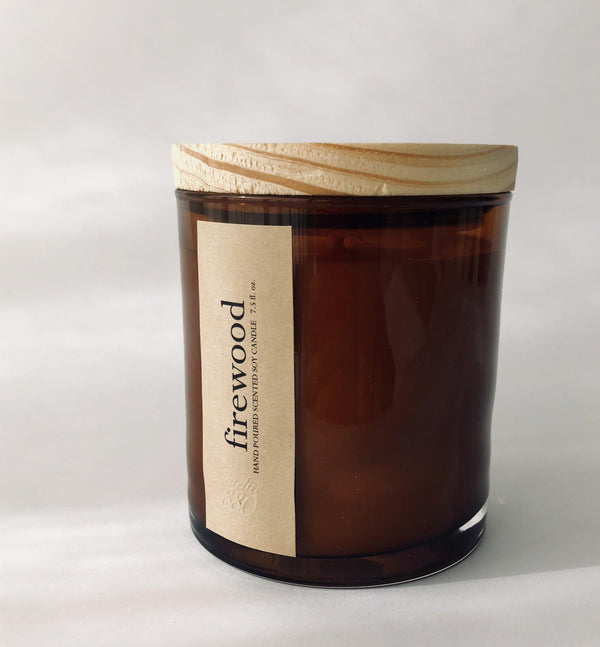 firewood scented luxury soy candle freeshipping - PuaGme