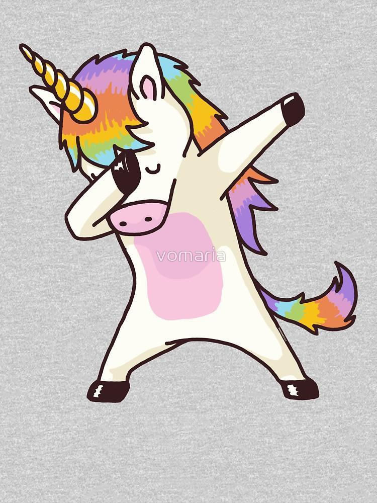 Dabbing Unicorn Shirt Hip Hop Dap Pose WOMEN
