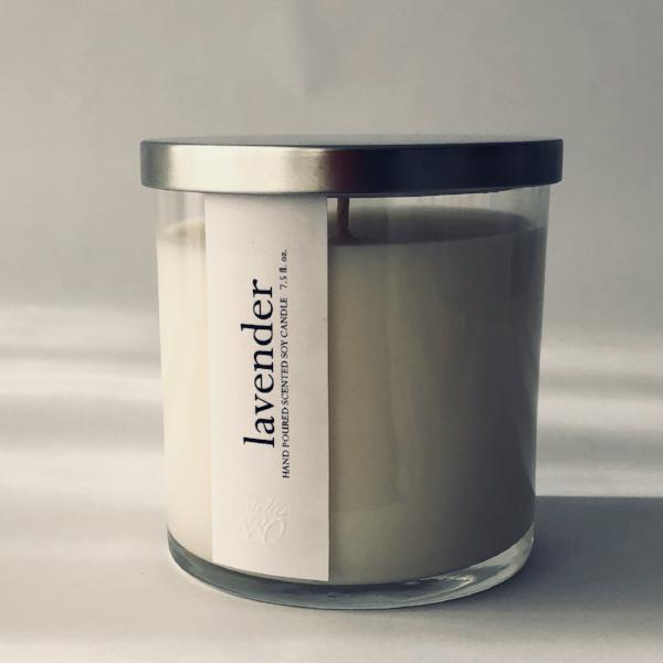 lavender scented luxury soy candle freeshipping - PuaGme
