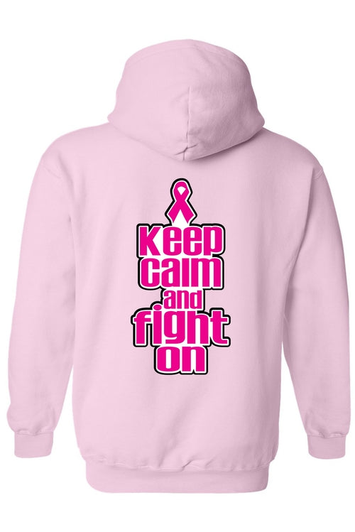 "Unisex Zip-Up Hoodie  BCA ""Keep Calm and Fight on"" freeshipping - PuaGme"