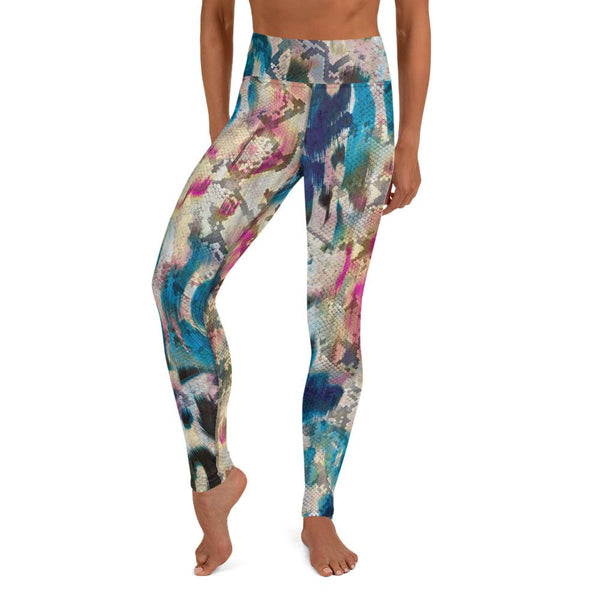 Abstract Colorful Animal Print High Waist Leggings freeshipping - PuaGme