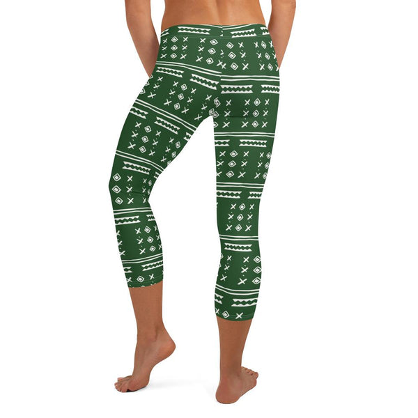 Africa Capri Leggings Green Women Pant freeshipping - PuaGme