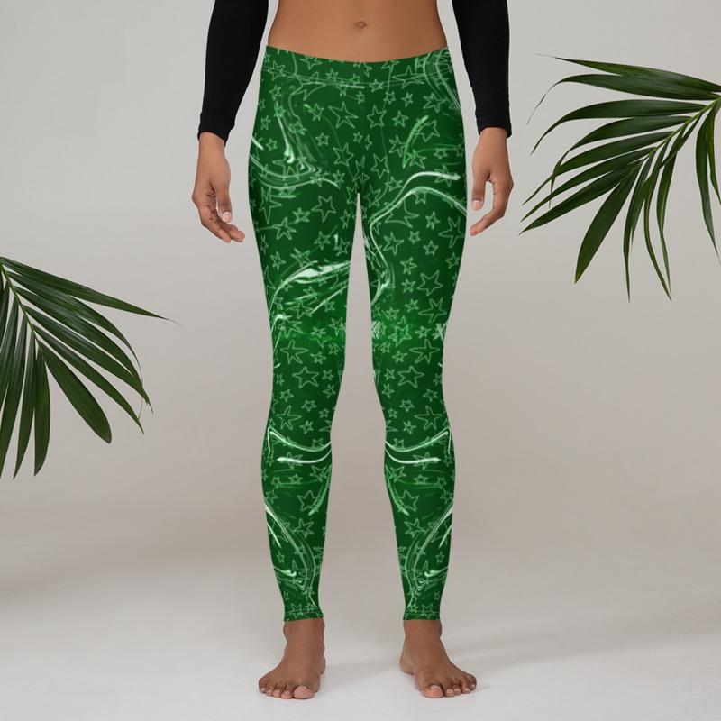 Green Star Leggings, Capris and Shorts freeshipping - PuaGme