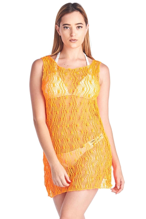 Women's Spider Tank Swimwear Cover-up Beach Dress freeshipping - PuaGme